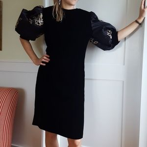 Givenchy Haute Couture velour puff-sleeved dress